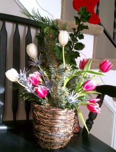Winter tulip basket